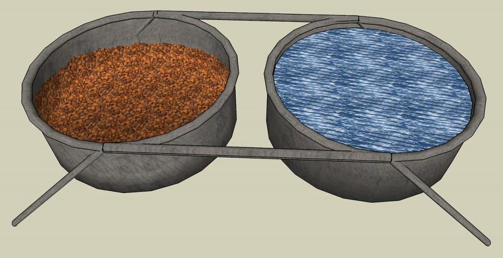 dog food trays and bowls