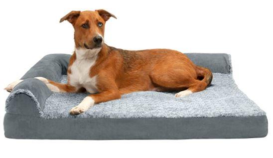 Furhaven Pet Dog Bed Deluxe Cooling Gel Memory Foam