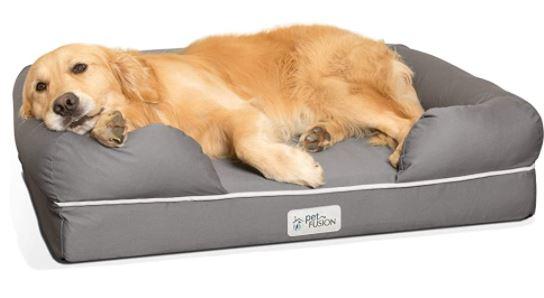 PetFusion Ultimate Dog Bed, Solid CertiPUR-US Orthopedic Memory Foam