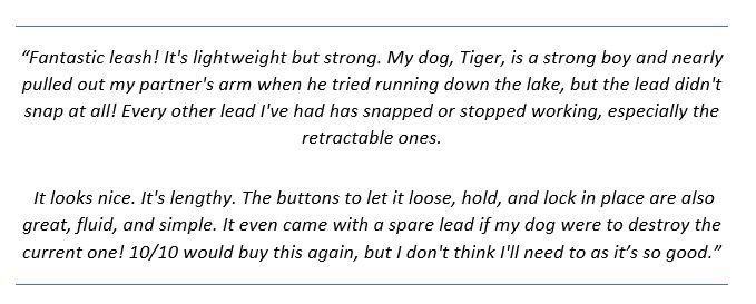customer reviews of the TUG Heavy Duty Dog Leash